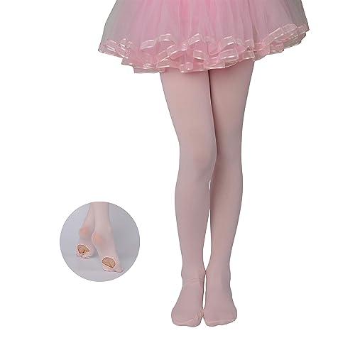 Frola Girls Solid Color Comfortable Convertible Ballet Tights 40 Denier