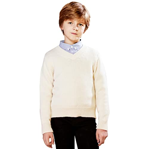 SOLOCOTE Kids Round Neck Sweater Irregular Jacquard Long Sleeve Stretchable Winter Warm Pullover