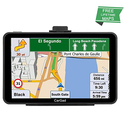 Car GPS,9 inch HD TouchTruck GPS with Sunshade GPS Navigation System for Truck,8GB 256MB Navigation with POI Speed Camera Warning,Voice Guidance Lane,Free Lifetime Map Updates/…