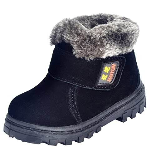 /… HOBIBEAR Kids Snow Boots Boys Girls Winter Boots Outdoor Warm Shoes Waterproof Hiking Boots Little Kid//Big Kid