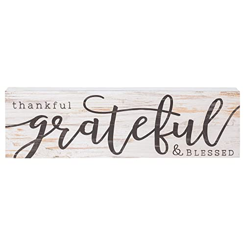 Buy P Graham Dunn Thankful Grateful Blessed White Wash 24 X 7 Inch Solid Pine Wood Boxed Pallet Wall Plaque Sign Online In Bahrain B06w5253xv