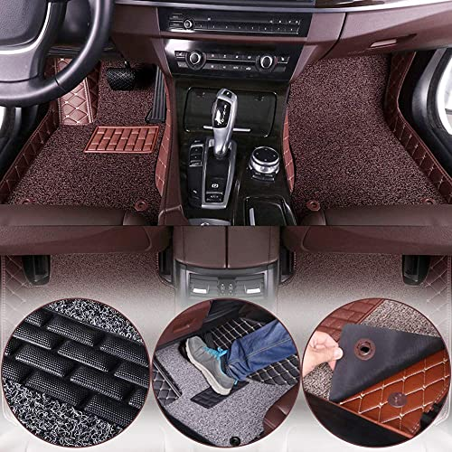 muchkey car Floor Mats fit for Chevrolet Equinox 2010-2019 Full Coverage All Weather Protection Non-Slip Leather Floor Liners