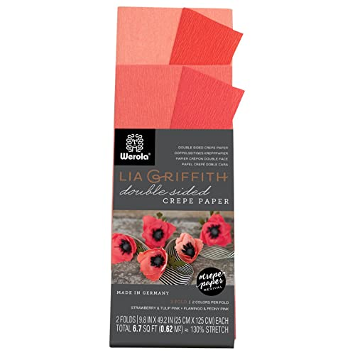 Red PEPPERLONELY Crepe Paper Rolls 250 x 25 cm