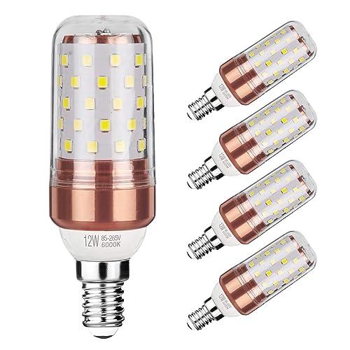 E14 LED Corn Bulbs 12W 100W Incandescent Bulbs Equivalent 6000K Daylight White