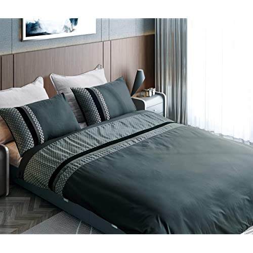 Coastline Jacquard Geometric Pattern Duvet Cover Double Size With Pillowcases Black Pintuched Quilt Cover Bedding Set 200x200cm Buy Products Online With Ubuy Bahrain In Affordable Prices B07vfnm74p
