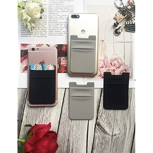 Bontivo Stretchy Lycra Cell Phone Card Holder for Back of Phone Adhesive Credit Cards Holder for iPhone and All Smartphones. Cell Phone Stick-on Wallet Card Holder