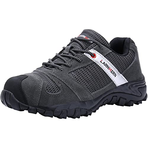showcai Unisex Steel Toe Work Shoes Industrial/&Construction Shoes Puncture Proof Safety Shoes /…