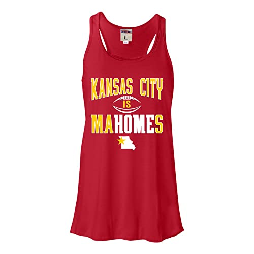 Go All Out Womens Kansas City is Mahomes Flowy Racerback Tank Top T-Shirt