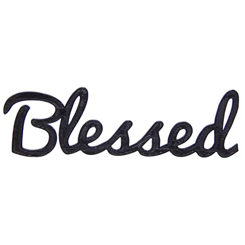 Buy Medallurgy Blessed Word Home Decor Black Finish Word Art Wall Hanging Script Typography Online In Bahrain B07nz17kx5