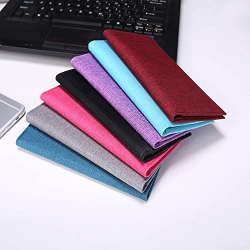 Kookio Oxford Fabric Checkbook Cover with Card Slot Pen Holder for Registers Duplicate Checks RFID Blocking for Men and Women