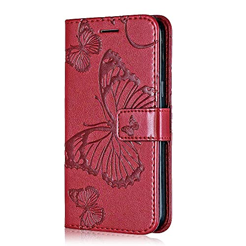 Magnetic Flip Notebook Leather Cover for Samsung Galaxy J2 Pro 2018 #6 Red Galaxy J2 Pro 2018 Case Bear Village Premium PU Wallet Protective Case with Card Slot