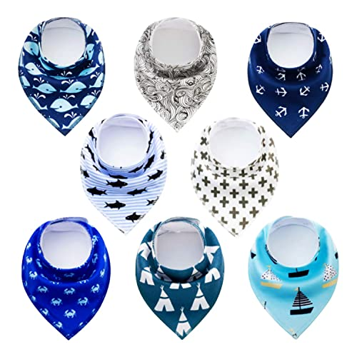 Baby Bandana Drool Bibs for Girls and Boys 12-Pack Organic Absorbent Drooling /& Teething Bib Set/…