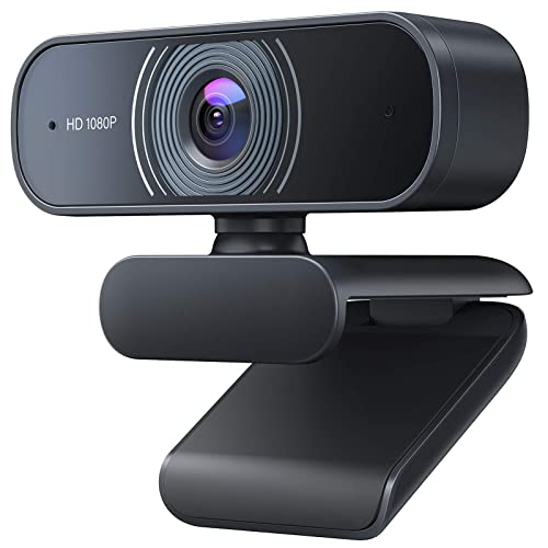 HD Webcam 1080P with Microphone 360/° Rotation with clamp HD Webcam PC Laptop Desktop USB Webcams Computer Camera for Video Calling 90-Degree Wide View Angle Gaming Conferencing Recording