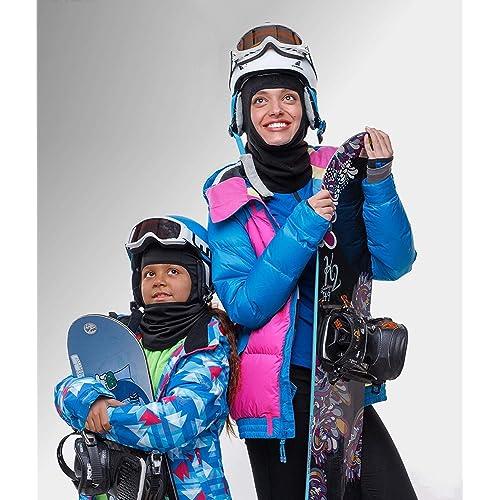 Thermal Breathable Fleece Windproof Ski Mask Kids Balaclava Winter Helmet Skilling Masks with Long Neck Warmer- Cold Weather Balaclava Hood Motorcycle Mask Girls /& Boys