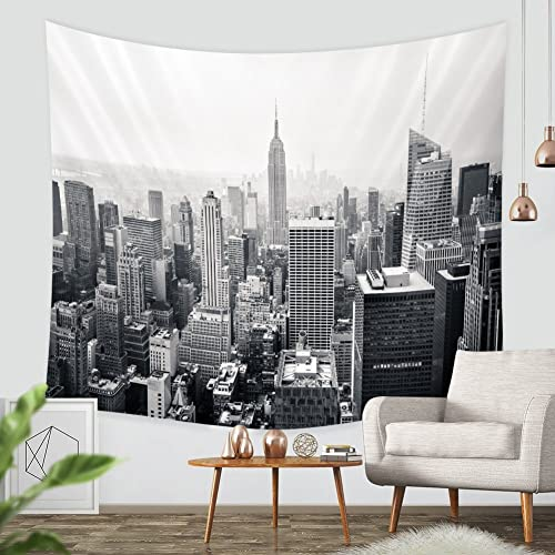 Buy Zblx New York City Tapestry Wall Hanging Sunset Skyscrapers In New York Hanging Tapestry By For Home And Wall Decorations Black59 1 X82 7 Hellip Online In Bahrain B075gygf46