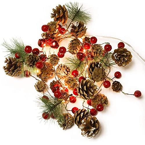 20LEDs Christmas Pine Cone String Light Xmas Home Party Wedding Garland Decors