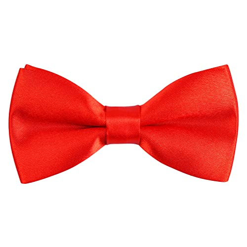 Alizeal Solid Banded Adjustable Length Pre-tied Boys Bow Tie