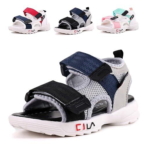 Buy LONSOEN Leather Outdoor Sport Sandals,Fisherman Sandals for Boys(Toddler/Little  Kids) Online in Bahrain. B07RKHHPNF