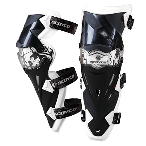 weemoment Knee Pads Oxford Cloth Knee Protector Shock-Resistant Windproof Cotton Padding Cycling Racing Warm Motorcycle Knee Guards for Winter Wind Snow Bike Motorcycle Rider
