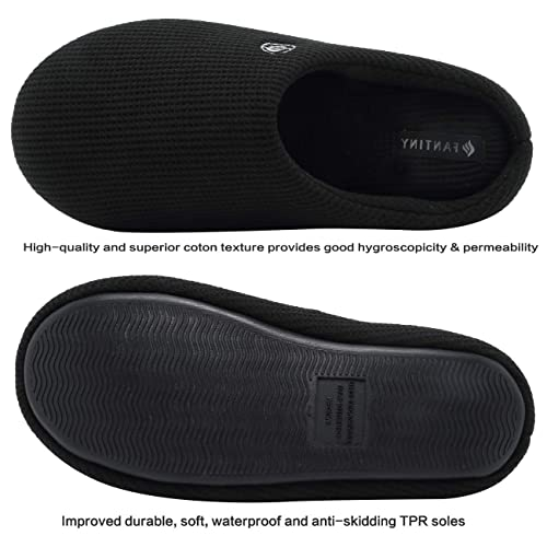 CIOR Fantiny Men/'s Memory Foam Slippers Comfort Knitted Cotton-Blend Closed Toe Non-Slip House Shoes Indoor /& Outdoor