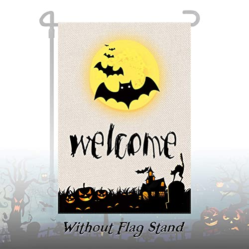 Buy Halloween Garden Flag Scary Halloween Decoration Halloween Witch Flag Welcome Flag Double Sided Mini Yard Flag Small Fall Garden Flag For Front Yard Porch Patio Lawn Outdoor Decoration 12 5 X 18 Inch Online In