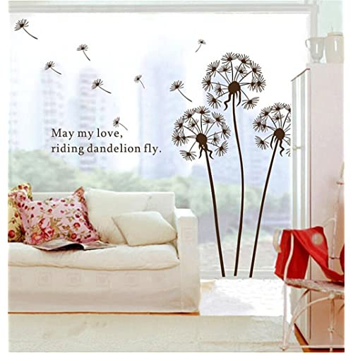 Buy 1 X Dandelion Flowers Tree Butterflies Removable Vinyl Wall Stickers Mural Home Decal Kids Room Decor Awqe Online In Bahrain B01kz1o5ea
