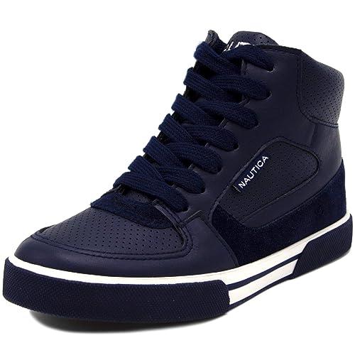 Nautica Kids Horizon Sneaker-Lace Up Fashion Shoe Boot Like High Top Big Kid//Little Kid//Toddler