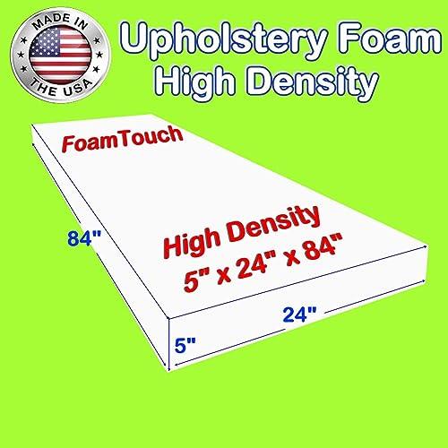 Upholstery Foam Cushion Made in USA Firm FOAMSPOT 1 Height x 30 Width x 54 Length 1.8 Density 44ILD