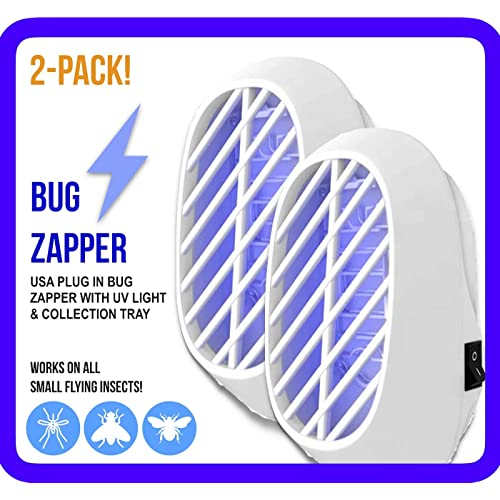 3.5 W // 110v with UV Light Indoor Plug-in Bug Zapper Power Portable Home Electric Insect Trap Blue Night Lamp for Removes Flies Mosquitos Gnats Moth and Bugs Odorless Noiseless
