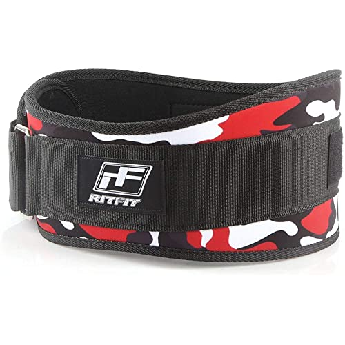 6-inch Firm /& Comfortable Back Support Easily Adjustable Best for Workouts at The Gym RitFit Weight Lifting Belt Weightlifting or Crossfit Pink /& Red Camo