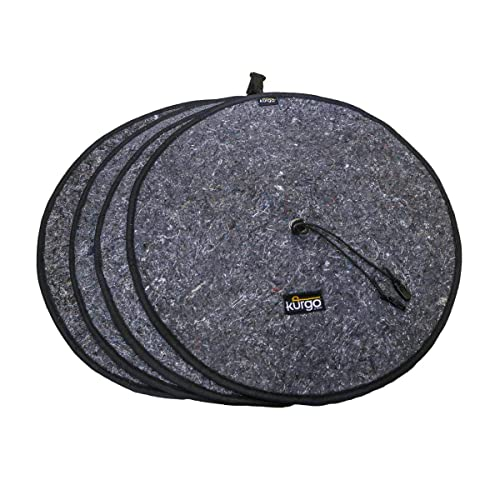 M PGMARO Seasonal Tire Tote Spare Tire Cover Portable Wheel Bags Winter Tire Cover Eco-Friendly Tire Totes Handle for Easy Transportation 4pcs Fits 25-31 Inch Tire Diameter Cars and Trucks