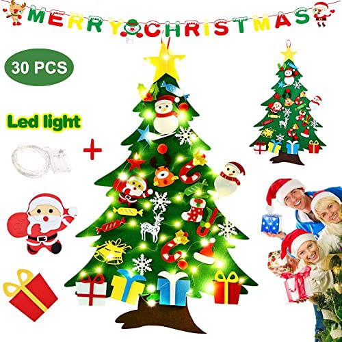 Buy Zweesait 3 3ft Diy Felt Christmas Tree For Kids 30pcs Detachable Ornaments With String Light With Merry Christmas Banner Wall Hanging Ornaments Kids Xmas Gifts For Christmas Decorations Online In Bahrain B07zj5jhpn