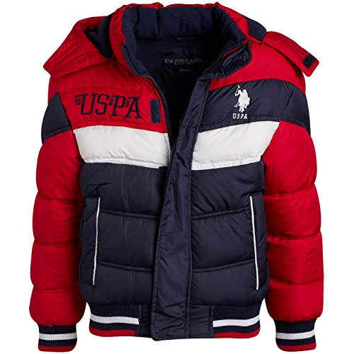 Polar Fleece Lined Winter Bubble Puffer Jacket POLO ASSN Boys Outerwear U.S