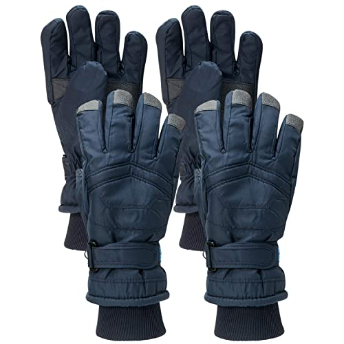 Connex Gear Boys Thinsulate Lining Windproof Waterproof Snow Gloves 2 Full Sets