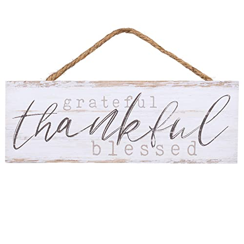 Buy P Graham Dunn Grateful Thankful Blessed Whitewash 10 X 3 5 Inch Pine Wood Slat Hanging Wall Sign Online In Bahrain B07cq4lb1t