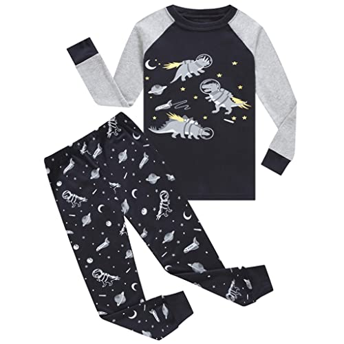 Family Feeling Space Little Boys Pajamas Sets 100/% Cotton Clothes Toddler Kids