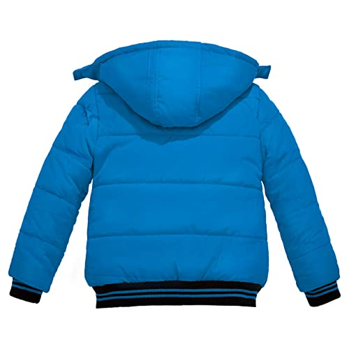 Wantdo Boys Winter Warm Fleece Coat Thickened Cotton Padding Jacket Windproof Outerwear Coat Outdoor Hooded Jacket
