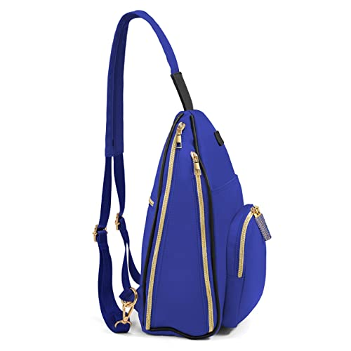 Women and Girls Fashion Backpack//Sling Bag VORONIA Rhinestone Zippers and Multi-Pockets Everyday Use