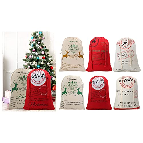 Lydias Deal Large Christmas Decoration Stocking Christmas Santa Sack Reindeer Delivery Present Bags from North Pole Bags for Kids Pattern 9