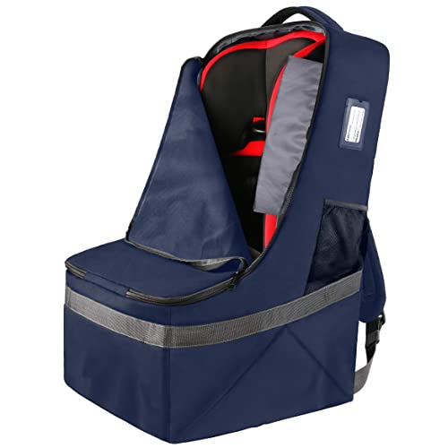 Universal Airport Backpack Booster Cover for Kids Baby Infant and Toddler Car Seat Travel Bag for Air Travel Carseat Gate Chek Bag for Airplane with Carrier Convertible Car Seat Bags by Loloki