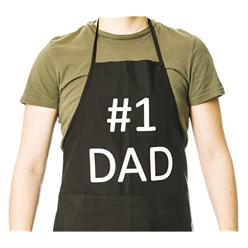 Funny Guy Mugs Best Dad Ever Adjustable Apron with Pockets Perfect For BBQ Grilling Barbecue Cooking Baking Funny Apron