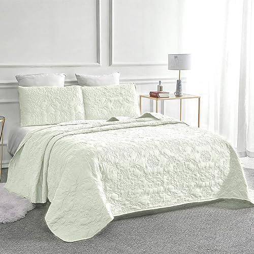 Sage King Size Lightweight Reversible Sophia /& William Bed Quilt Bedspread Coverlet
