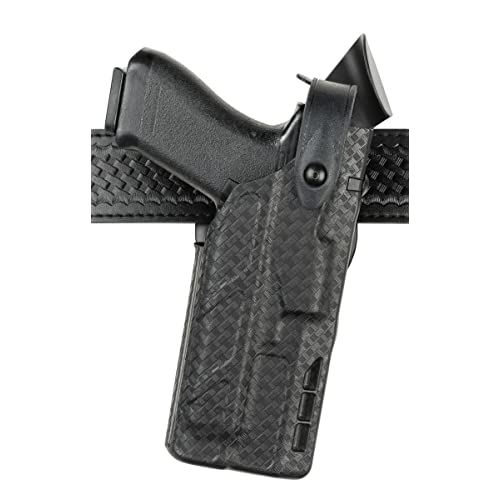 Right Hand Black Safariland 7360 7TS ALS//SLS Mid-Ride III Retention Glock 17//22 Duty Holster with ITI Light