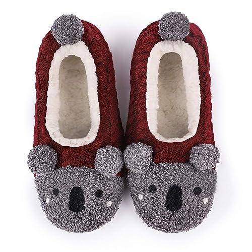 LongBay Womens Cute Knit Slipper Socks with Ultra Soft Fleece Lining