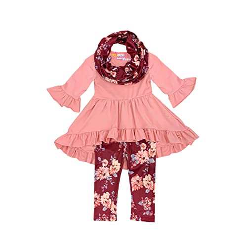 Halloween Thanksgiving Top Leggings Scarf Set Boutique Clothing Girls Fall Winter Holidays Scarf Outfit