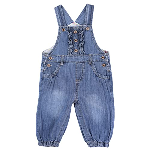 ZL MAGIC Baby /& Little Girls Embroidery Soft Bib Denim Overalls Washed Jumpsuits Jeans