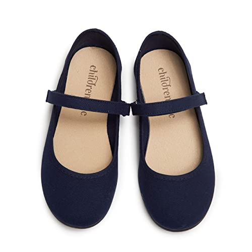 Childrenchic Mary Jane Flats with Hook and Loop Straps Shoes for Girls Infant, Toddler, Little Kid