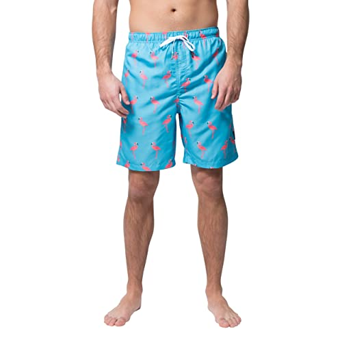 Benefeet Sox Mens Quick Dry Swim Trunks Beach Shorts Novelty Camou Striped Swimwear with Mesh Lining Bathing Suits
