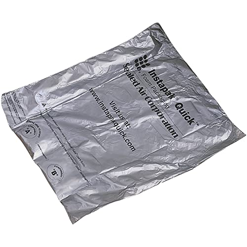24 Length 18 x 24 Gray 18 Width Bulk Pack Ship Now Supply SNIQH40B Instapak Quick Expandable Foam Bags Pack of 180