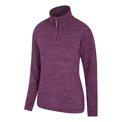 Best for Winter Breathable Baselayer Antipill Lightweight Ladies Sweater Top Spring Mountain Warehouse Snowdon Womens Full Zip Fleece Camping /& Hiking